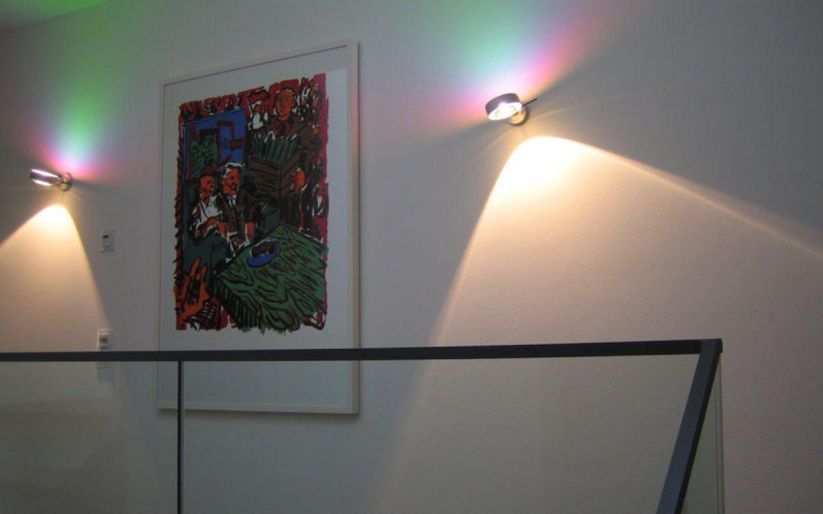 Lichtkonzept Villa: Ausleuchtung Galerie