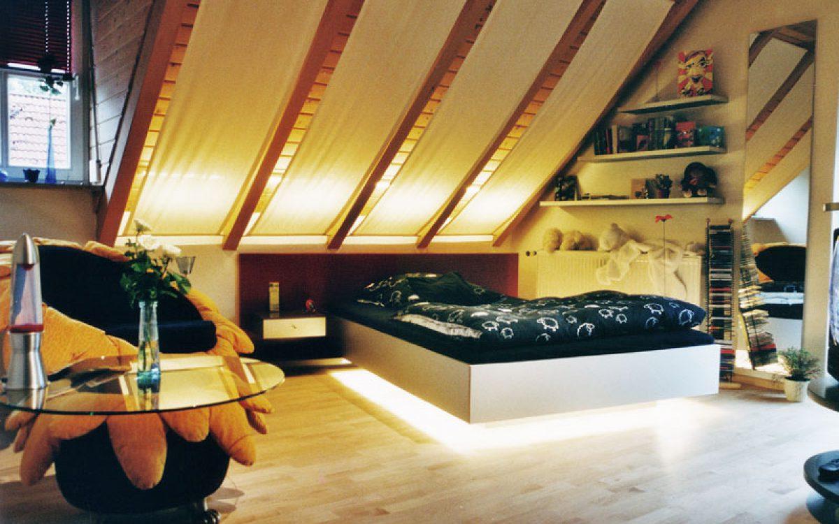 Einrichtung eines jugendzimmers mit dachschr ge for Einrichtung jugendzimmer