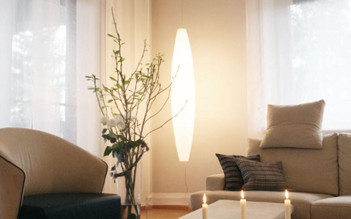 Gesamtkonzept Wohnzimmer: Material, Farbe und Beleuchtung