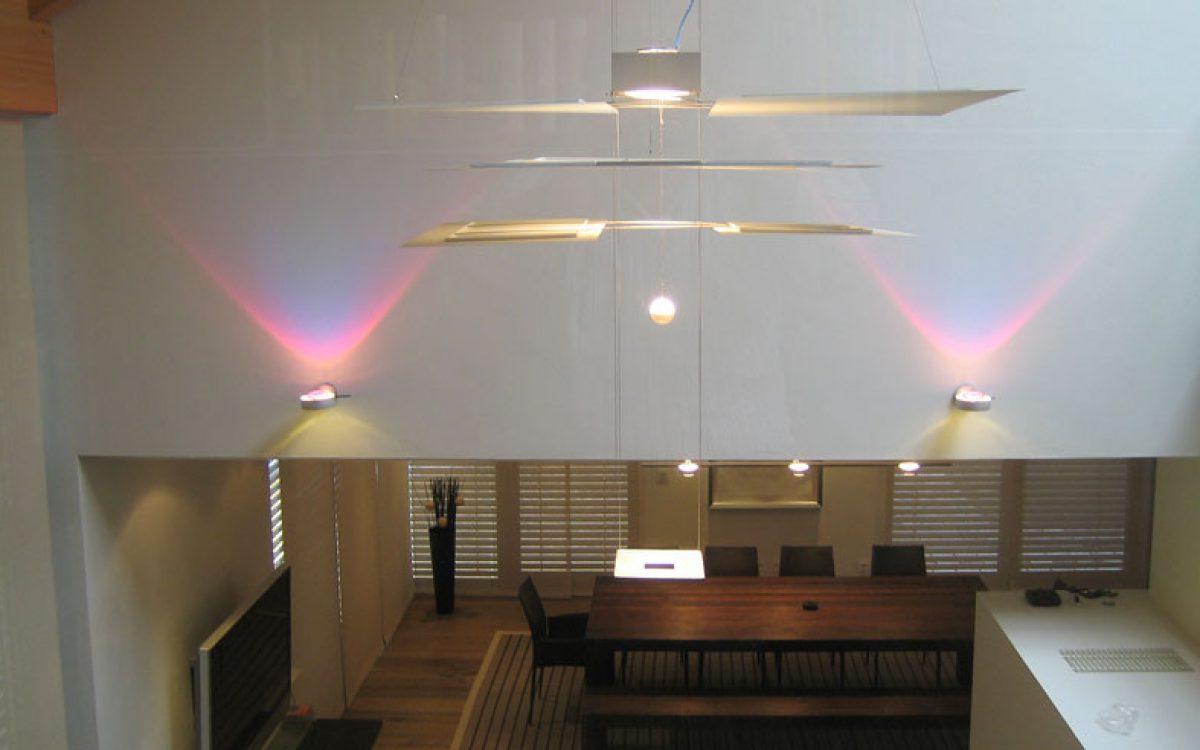 Lichtkonzept Villa: Pendelleuchte, Wandstrahler