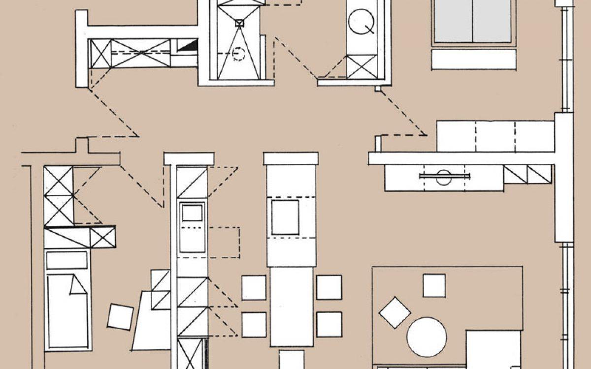 Innenarchitektur Privatwohnung: Planskizze