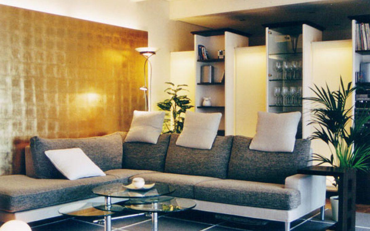 Innenarchitektur Wohnraum: Sitzbereich mit Raumteiler