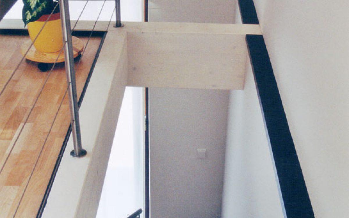 Innenarchitektur Wohnraum: Treppe mit Galerieverankerung